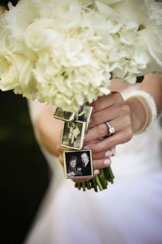 Diy Wedding Bouquet Jewelry Charm Kit - Photo Pendants Charms For Family Photo   Includes Everything You Need Including Instructions