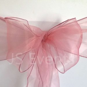 Dusty Pink Organza Chair Sashes Bows Ties Ribbon For Wedding Reception Birthday Anniversary Party Decorations