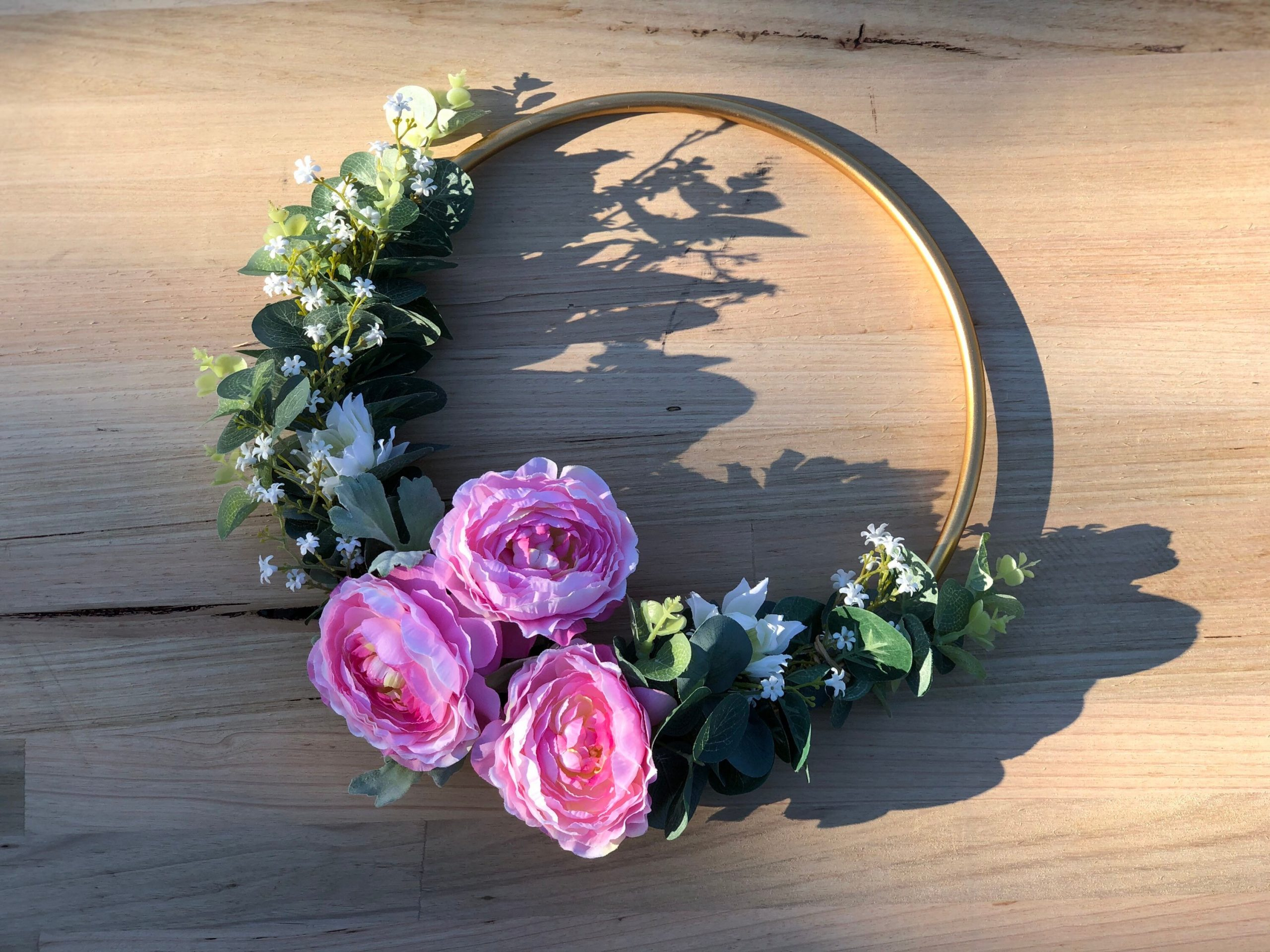 Floral Hoop Wreath -Wedding, Engagement, Wedding Decor, Flower Bouquet, Bride, Girl, Baby Floral Ring, Baby, Wall Decor
