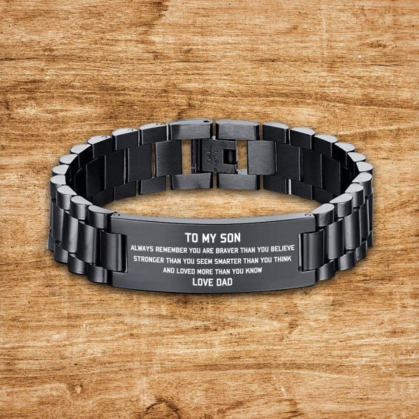 From Dad To Son Bracelet Gift Wristband Jewelry With Love Father For Birthday Xmas Wedding Uni Graduation Anniversary Christmas Gifts