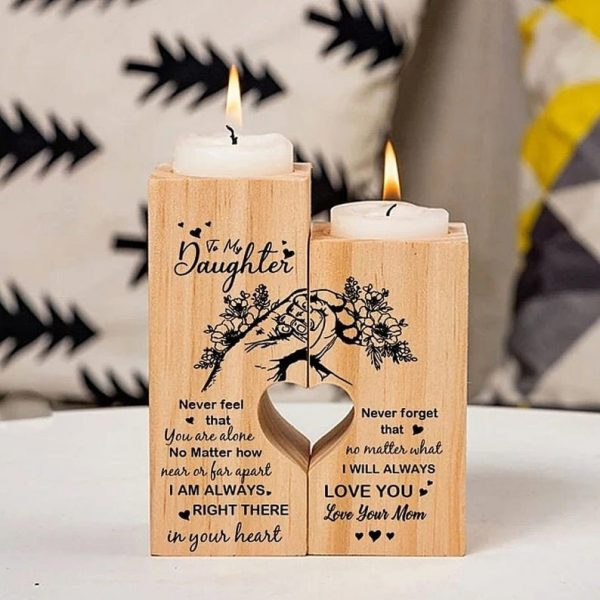 From Mom To Daughter Candle Holder Gift For Christmas Birthday Mother's Day Wedding Graduation Xmas Mom