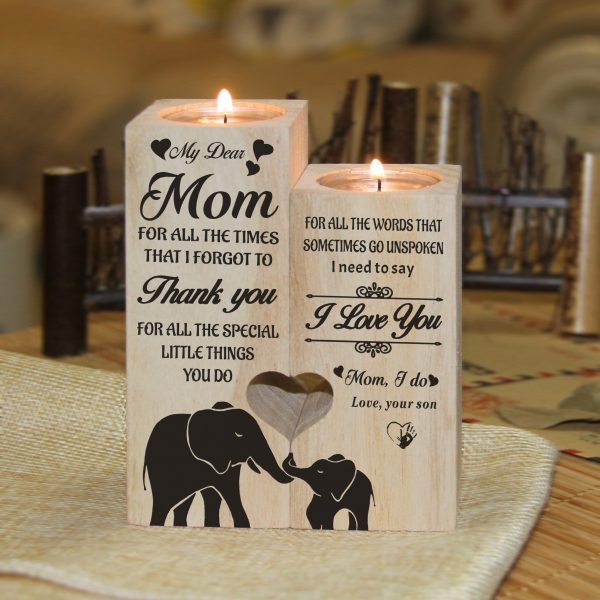 From Son Mother's Day 2021 To Mom Candle Holder Gift Son For Mother Birthday Christmas Wedding Anniversary Gifts