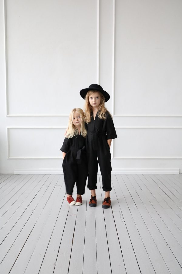 Girls Linen Jumpsuit/ Rompers/ Overall/ Offon Clothing