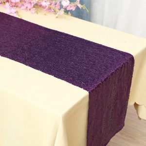 Glitter Sequin Purple Table Runners Engagement Wedding Banquet Ceremony Feast Birthday Anniversary Sparkling Party Dining Decoration
