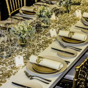Gold Table Runner, Wedding Runners, Size(30cm2.mts/(12 Inches.6.5Feet Royale Design