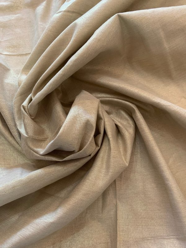 Golden Thread Silk Fabric, Premium Art Yarn, Woven Material Elegant Style Gown, Formal Wear, Prom Dress, Fashion Sewing Fabric, Gold Colour