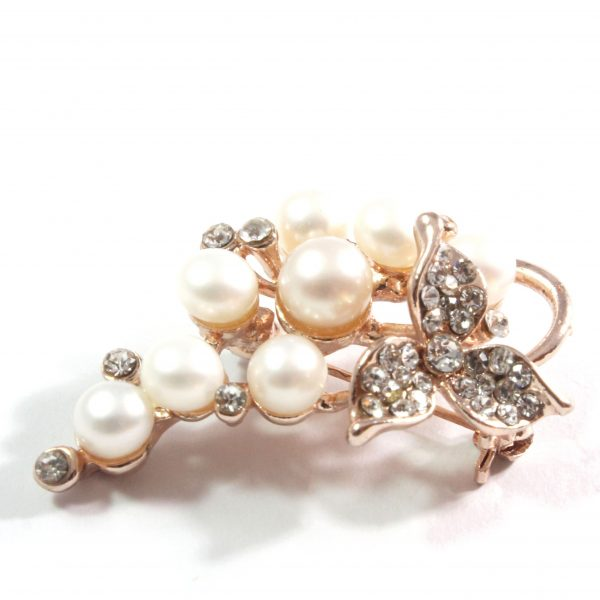 Grape White Freshwater Cultured Pearl Brooch 5.0-5.5mm