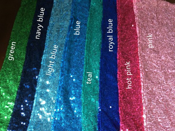 Green Blue Pink Sequin Glitter Table Runners Engagement Wedding Reception Birthday Anniversary Function Party Dinning Decoration