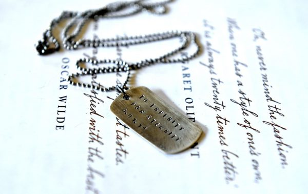Groom Gift On Wedding Day, Husband Gift, Anniversary For Him, Dog Tag Necklace Men, Sterling Silver Tags, Rustic Mens Jewelry