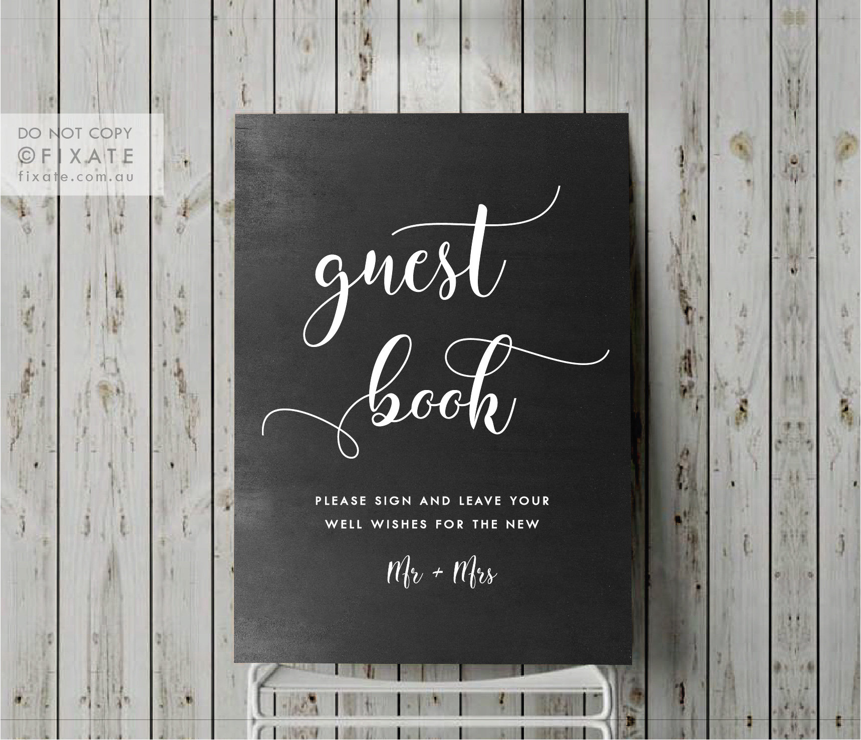 Guest Book Sign Wedding Guest Decal Signage Sticker Please Sign Our Book Vinyl Diy Decor Blackboard