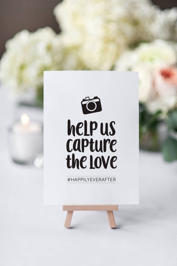 Instagram Sign, Wedding Hashtag Help Us Capture The Love Sign