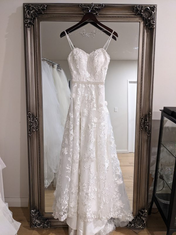 Lace Wedding Dresses & Bridal Gowns   Floral Dress Gown Sleeveless Custom Designed Myra