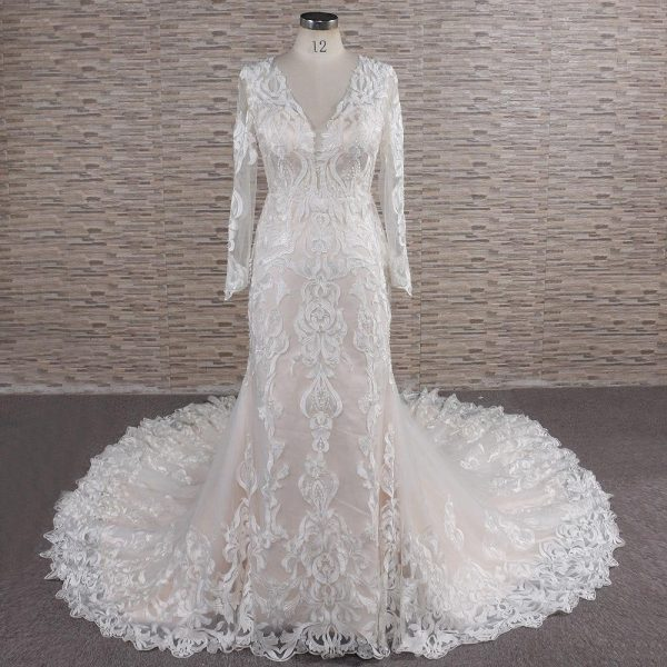 Lace Wedding Dresses & Bridal Gowns   Mermaid Gown Long Sleeve Alex