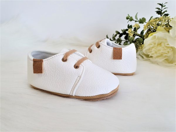 Leather Baby Moccasin Oxford Shoes, Premium Faux Shoes Unisex Boy Girl, Baptism Christening Shower Newborn Birthday Gift