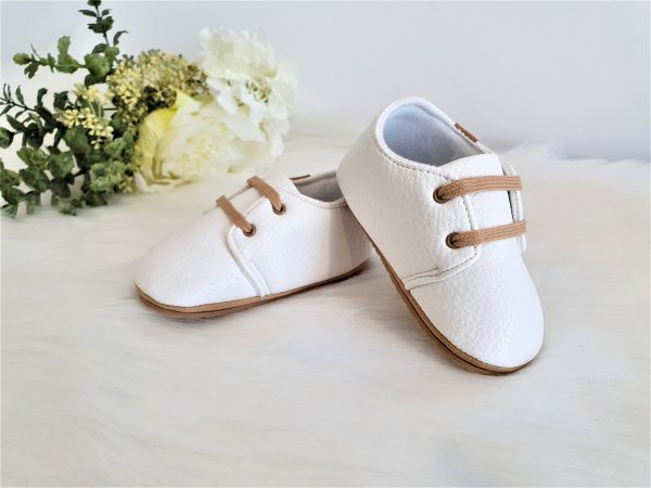 Leather Baby Moccasin Oxford Shoes, Premium Faux Shoes Unisex Boy Girl, Baptism Christening Shower Newborn Gift