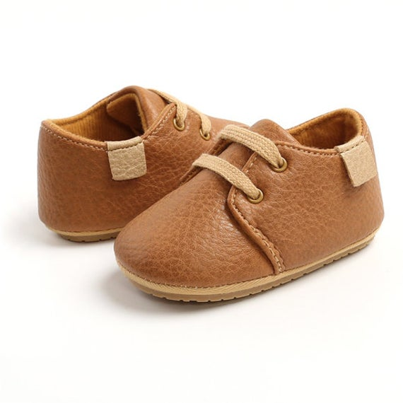 Leather Baby Moccasin Oxford Shoes, Premium Faux Shoes Unisex Boy Girl, Baptism Christening Shower Toddler Birthday Gift