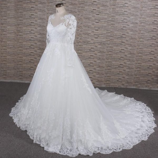 Long Sleeve Wedding Dress | Bridal Gown With Sleeves Thyra