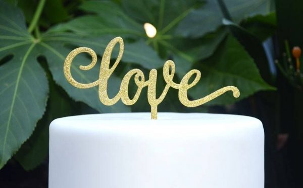 Love Wedding Cake Topper - Engagement Assorted Colours