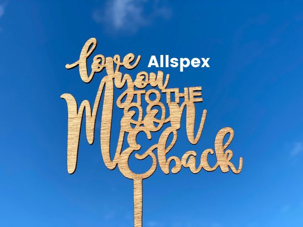Love You To The Moon & Back Cake Topper Wedding