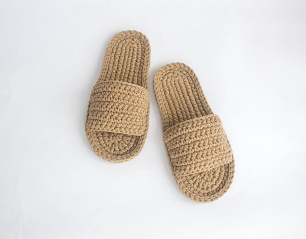 Mens Slippers With Sole - Flat Shoes