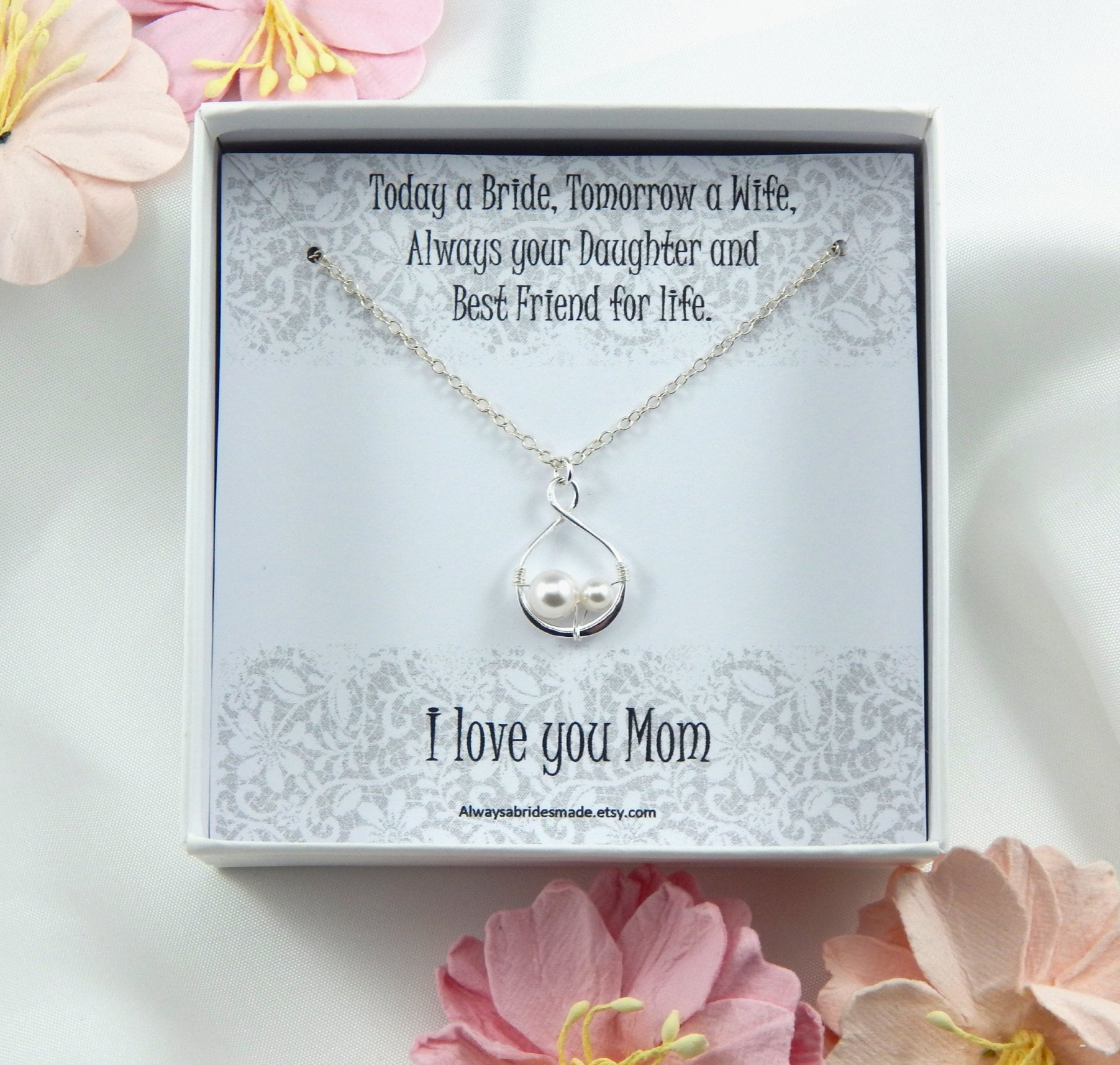 Mother Of The Bride Necklace, Mother Of The Necklace Gift, Gift Box Wedding Gift