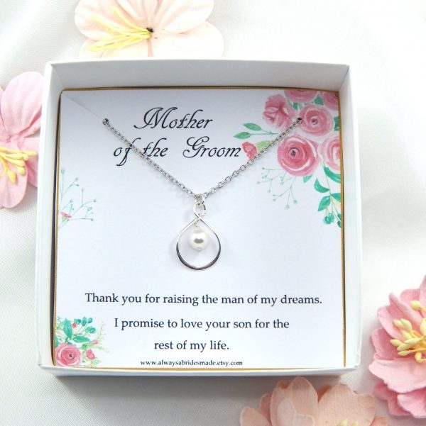 Mother Of The Groom Necklace Gift From Bride, Gift For Groom, Mother in Law Necklace, Wedding Gift For in Law