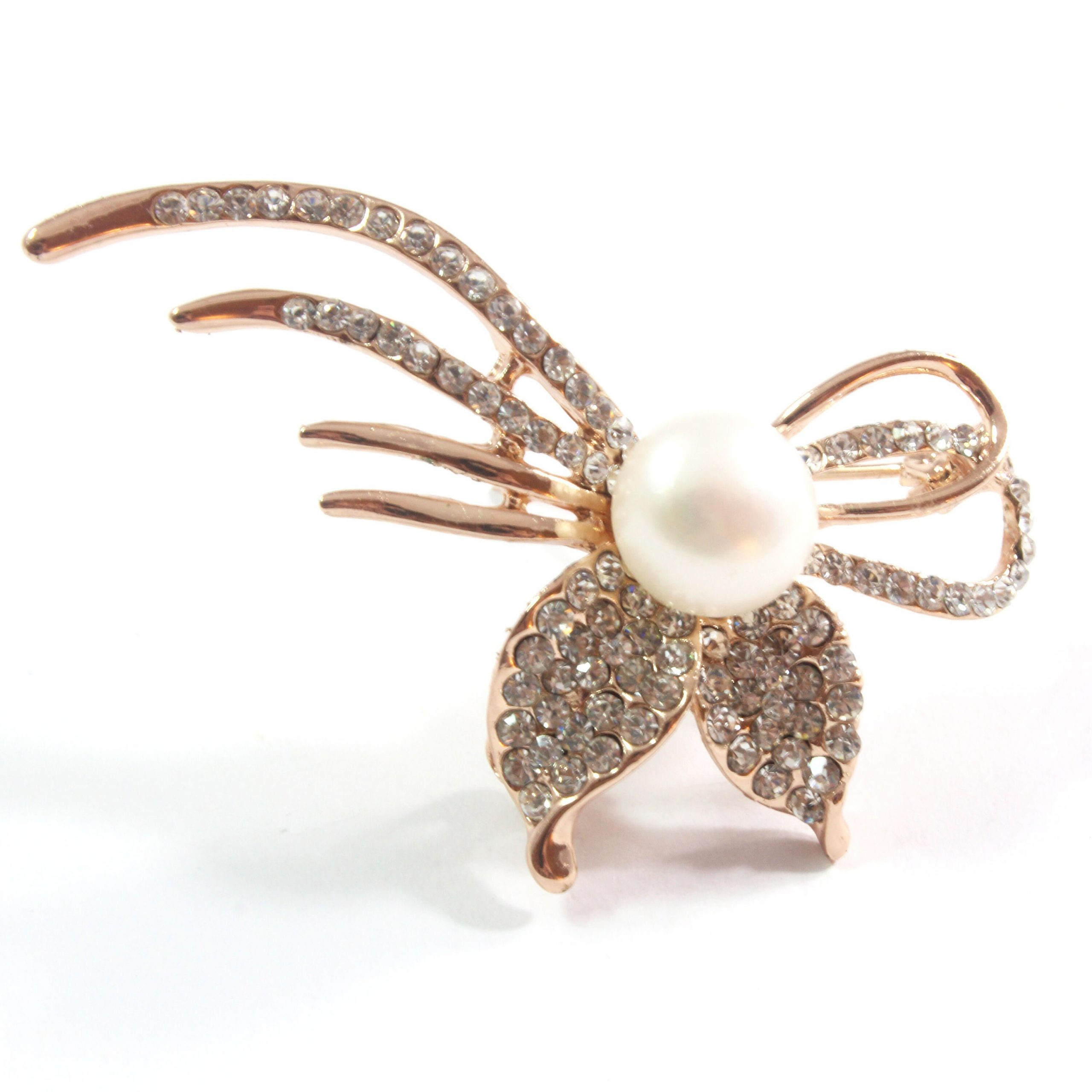 Mouse Freshwater White Cultured Pearl Brooch 10.5-11.0mm