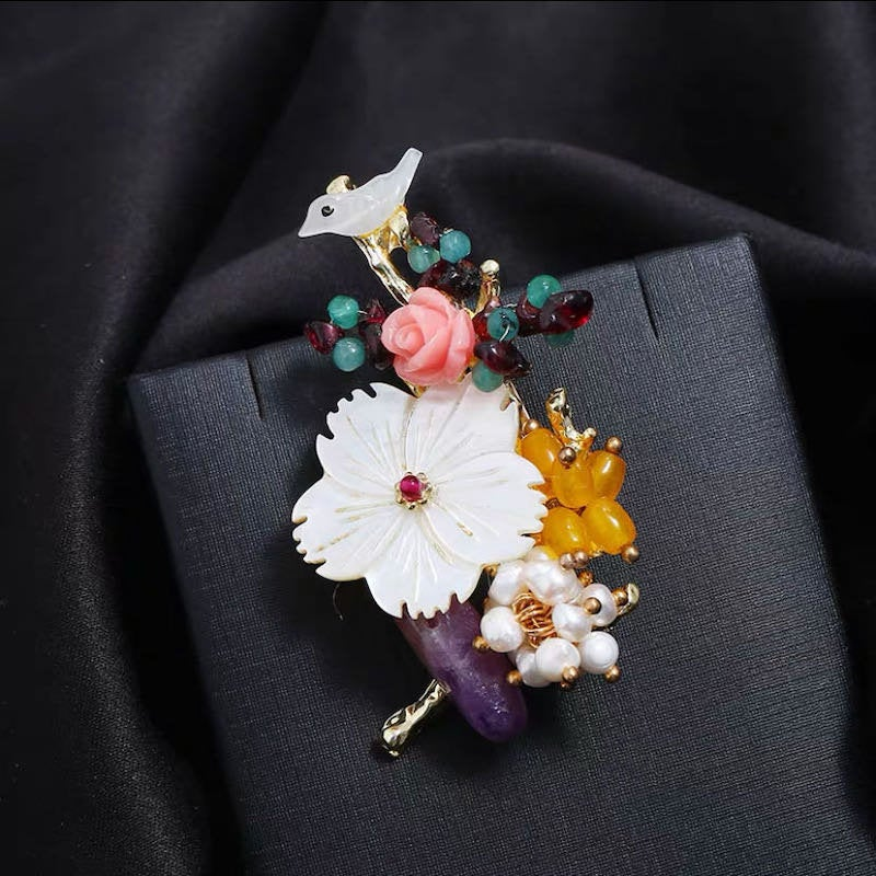 Nymphbymia Handmade Brooch For Man/Lady Wedding Gift Bridal Bridegroom Men's Social Party Business Suit