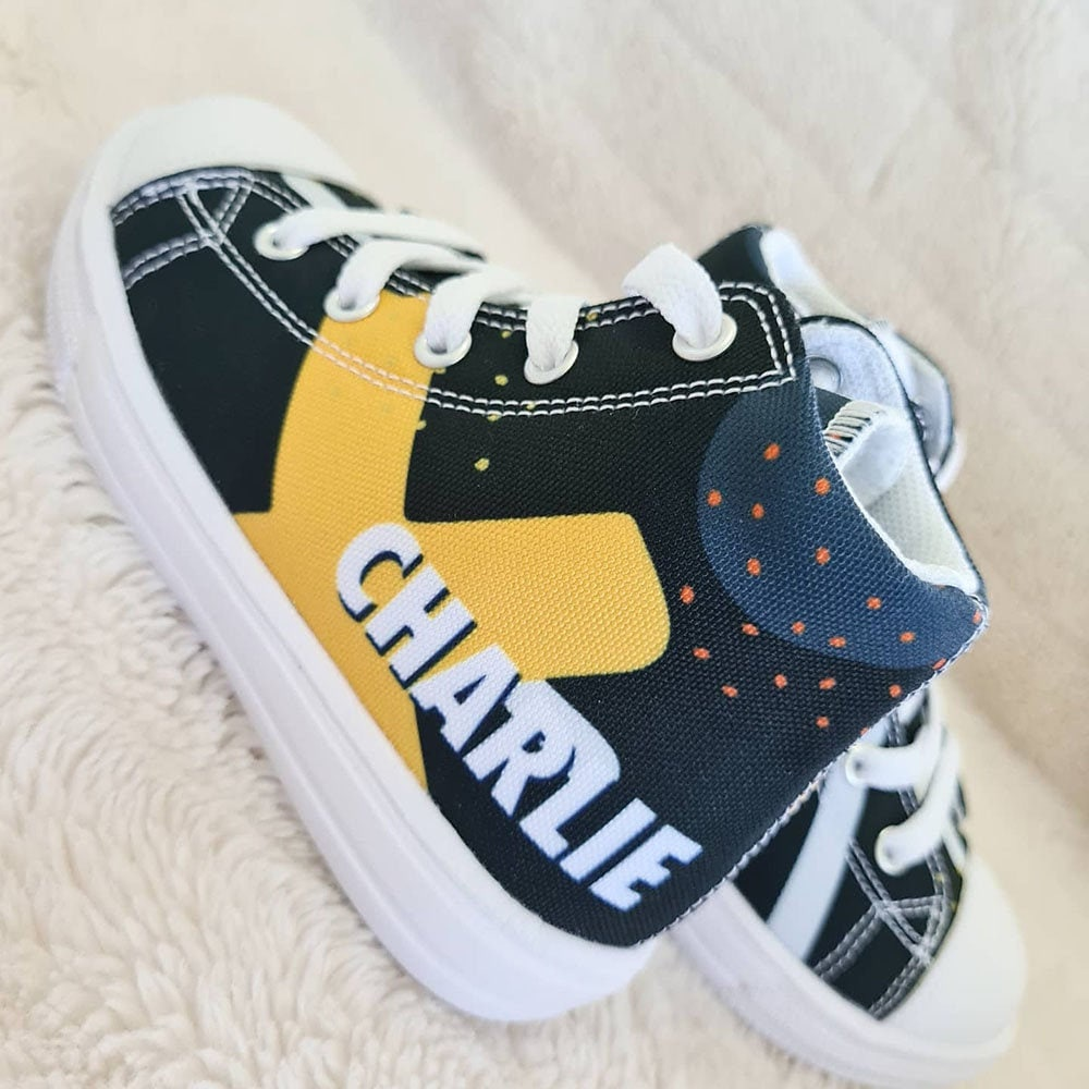Personalized Kids Shoes - Hightop Canvas Boys Gift
