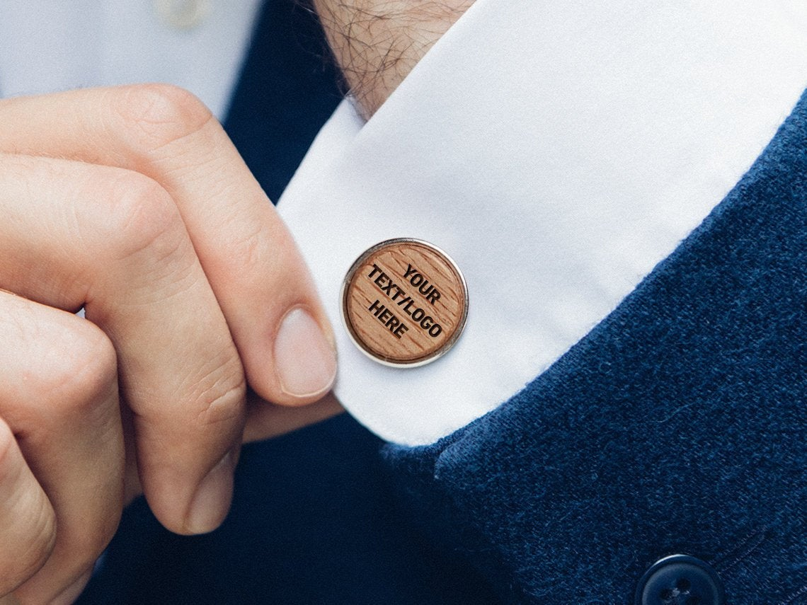 Personalized Men, Wooden Cuff Links, Cufflinks, Custom Engraved Wedding Party Gift, Links