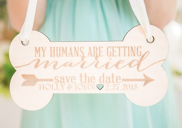 Pet Sign For Engagement Save The Date Photography - Dog Wedding Pictures, Personalized   Item Eps100