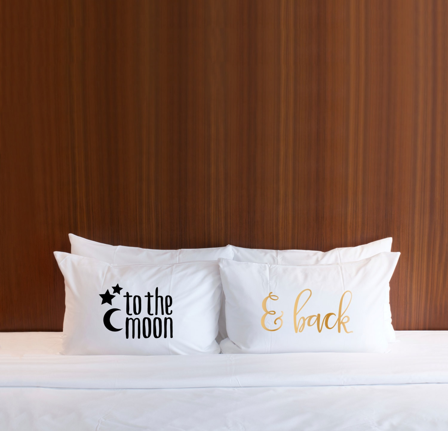 """Pillowcases Gift Set To The Moon & Back Pillow Case Set, For Kids, Couples Or Wedding Anniversary Him Her 