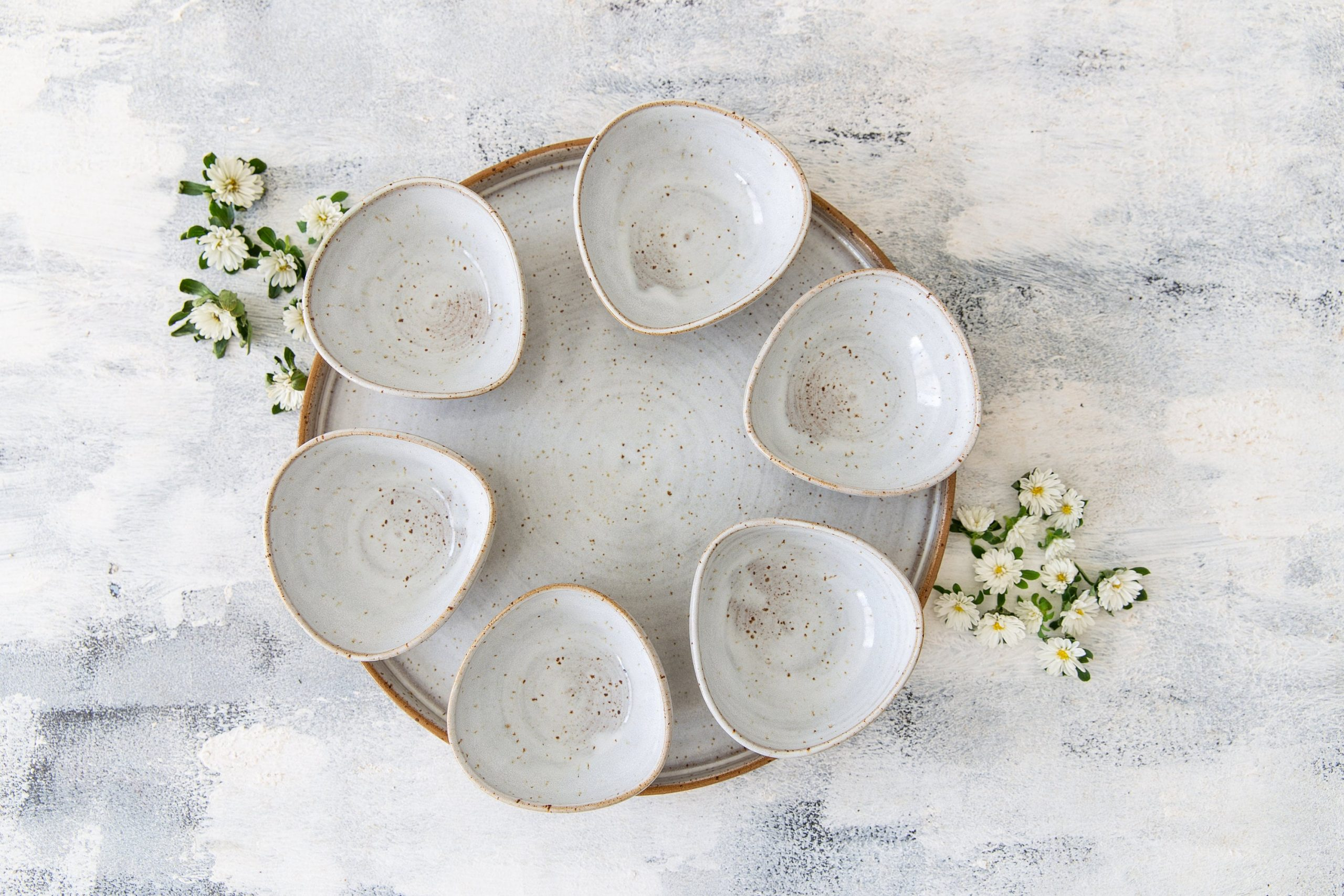 Pottery Wedding Gift, Passover Jewish Hostess Gift For Mom, Modern Seder Plate, Pesach Plate