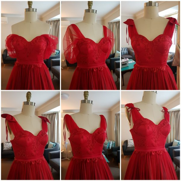 Princess Red Lace Dress Size 8 Made in Australia By Nate Free Shipping