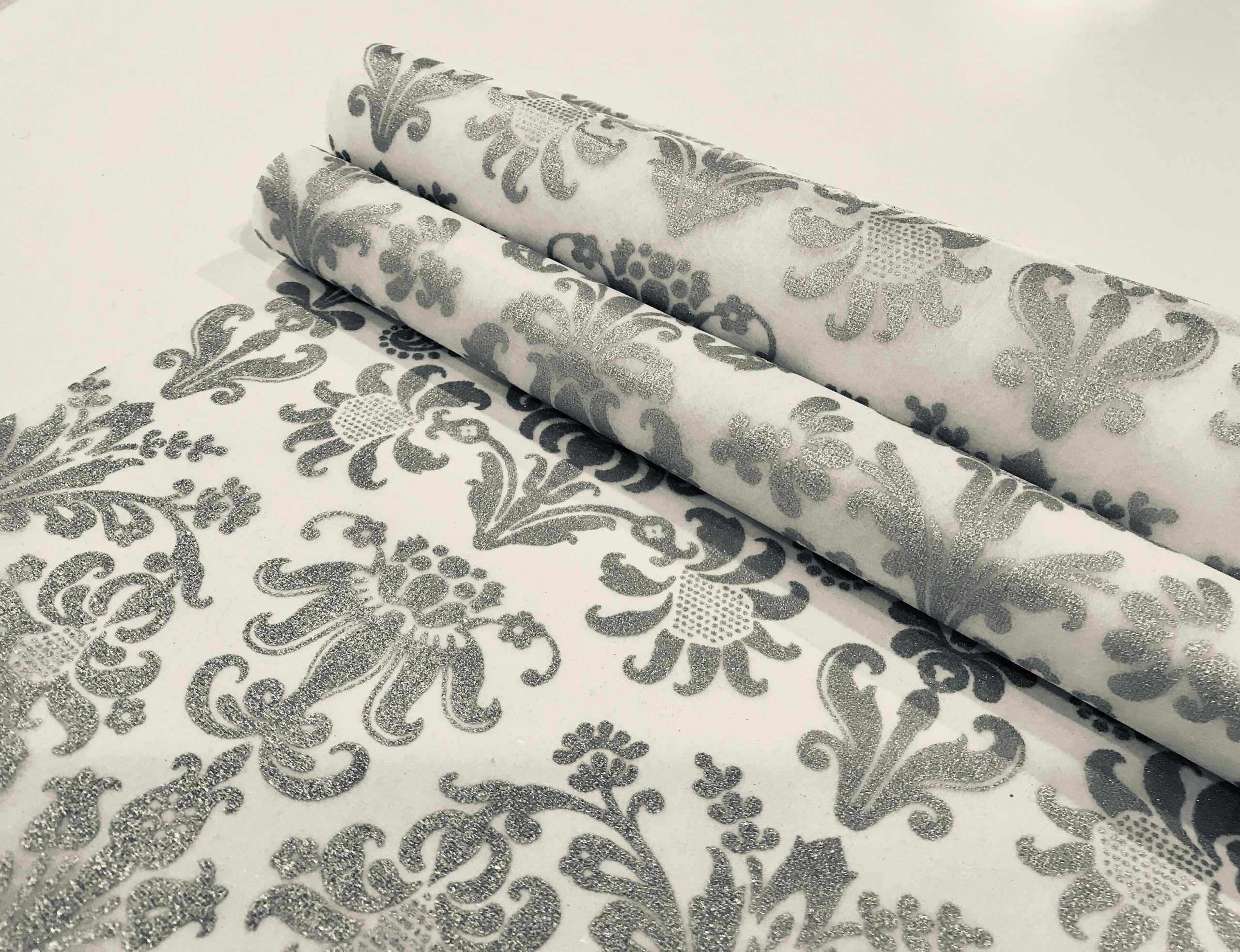 Silver Table Runner, Wedding Runners, Size Metric(30cm Wide 2.mts Long/Imperial(12 Inches 6.5 Feet