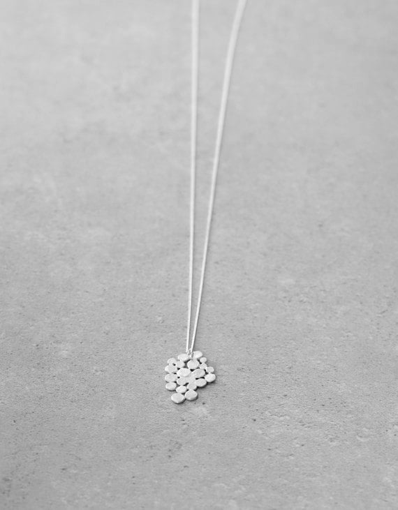 Sterling Silver Cluster Necklace, Holiday Gift, Silver Chain, Studio Baladi, Delicate, Bunch, Bride Necklace, Wedding, Designer Jewelry