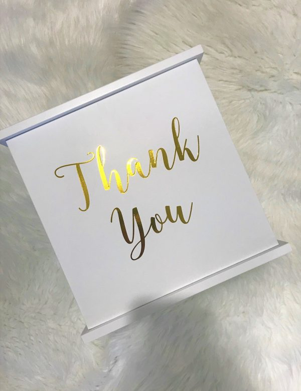 Thankyou White Timber Wishing Well For Wedding Or Engagement, Card Box, Wooden Box Wedding Engagement