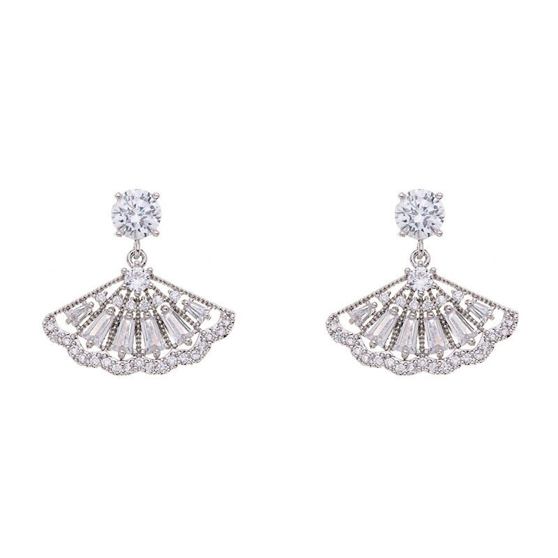 The 3 Graces | Bridesmaid Jewelry, Pearl Earrings Set, Wedding Bridal Party Gifts, Cubic Zirconia