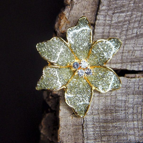 Tropical Orchid Brooch #5447