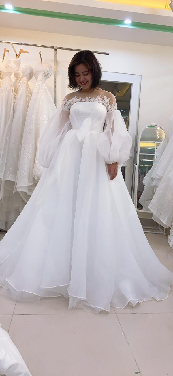 Unique Vintage White Wedding Dress, Made To Measure Princess Lace Bridal Gown, Affordable Dress Order