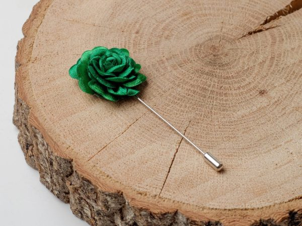 Wedding Accessories, Green Boutonniere, Men Lapel, Suit Brooch, Lapel Pin, Rose Pin, Groom Gift