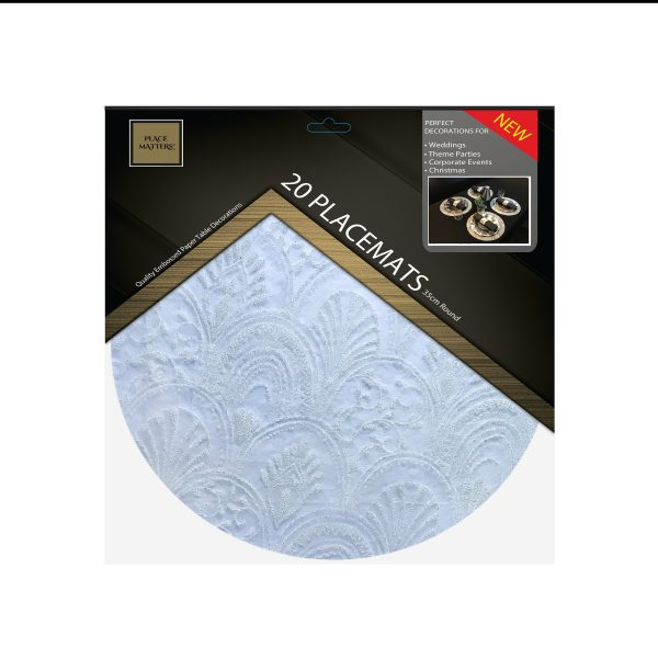 Wedding Charger Plates Placemats, Round White Placemats, Chargers, Decorations | Sold in Packs Of 20 Placemats