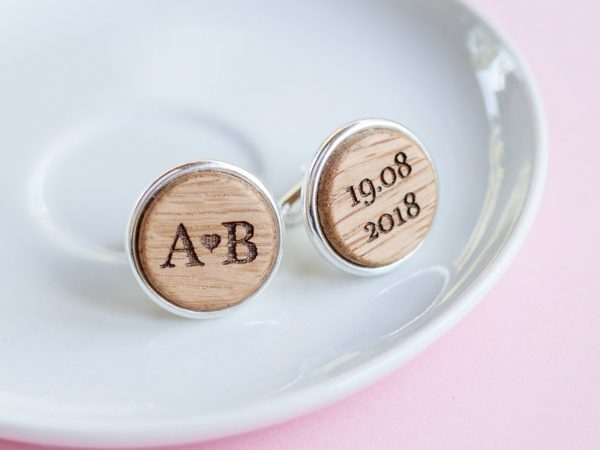 Wedding Cuff Links, Personalized Cufflinks, Daddy To Be Gift, Custom Engraved Wood Links, Party Links