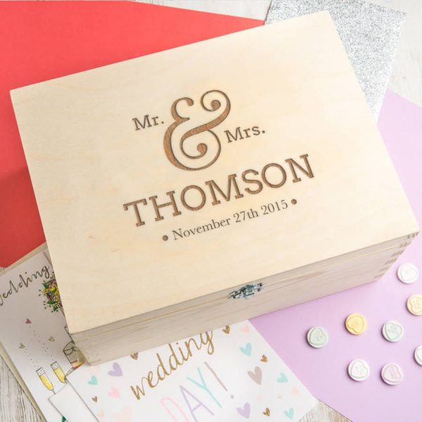 Wedding Keepsake Box - Gifts For Couples Parents Bride Personalized Memory