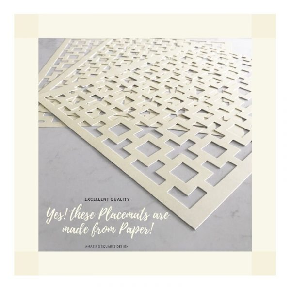 Wedding Placemats, Cream Rectangle Placemats, Chargers, Decorations | Sold in Packs Of 20 Placemats