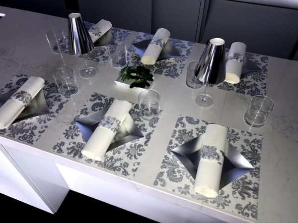 Wedding Placemats, Square Silver, Chargers, Decorations | Sold in Packs Of 20 Placemats