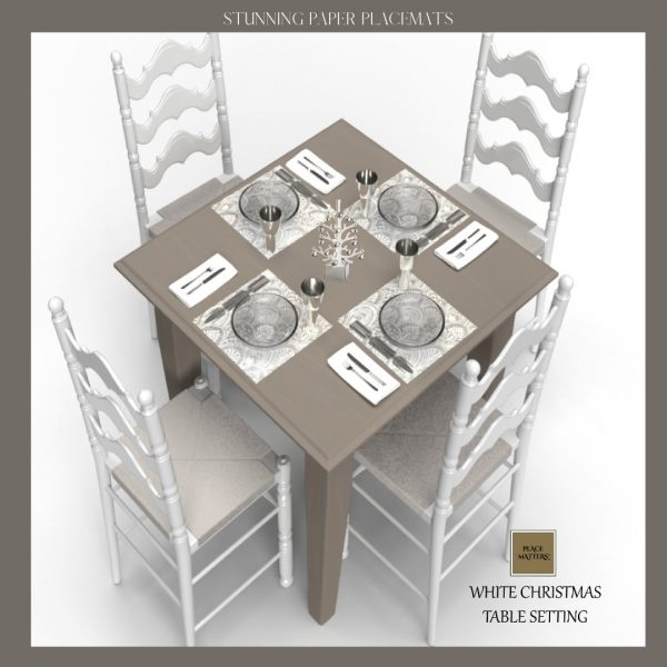 Wedding Placemats, Square White, Chargers, Decorations | Sold in Packs Of 20 Placemats