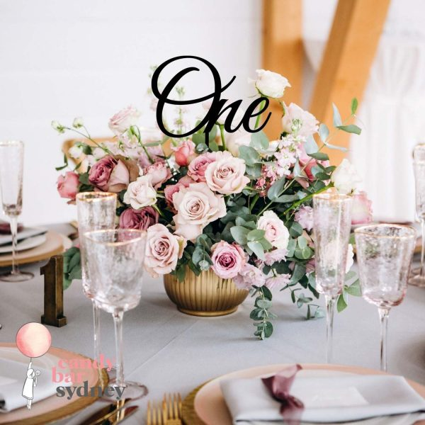 Wedding Table Number - Laser Cut Numbers Wooden Style 1