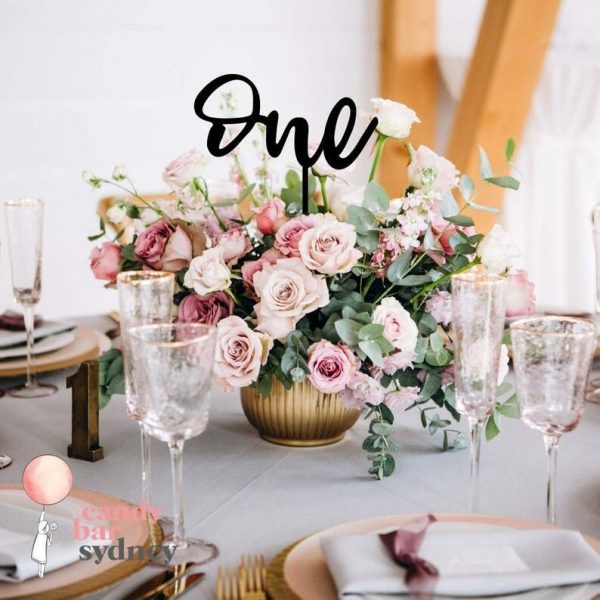 Wedding Table Number - Laser Cut Numbers Wooden Style 3