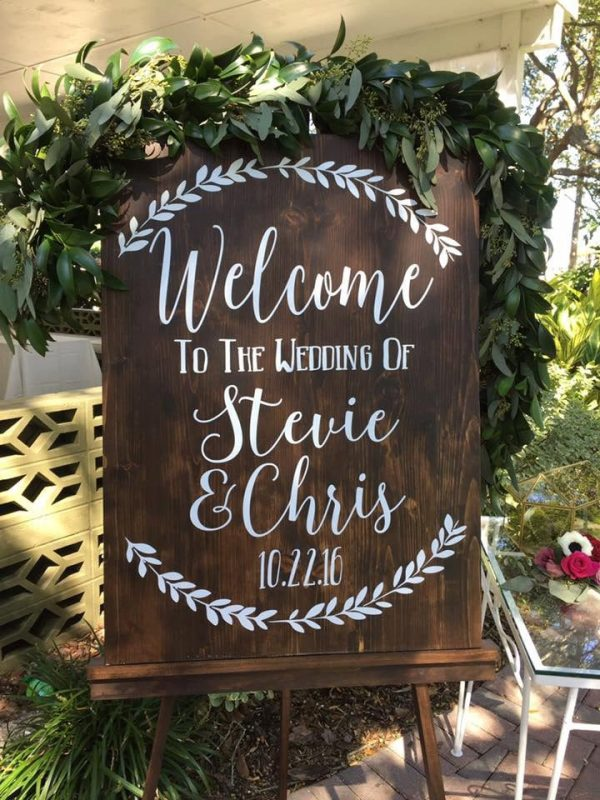 Welcome To The Wedding Of Decal, Decor, Established, Rustic Sign, Custom